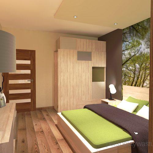 projekt-sypialni-projektowanie-wnętrz-lublin-perspektywa-studio-sypialnia-styl-nowoczesny-brązy-i-zieleń-w-sypialni-fototapeta-powiększająca-wnętrze-Leśne-zacisze-14