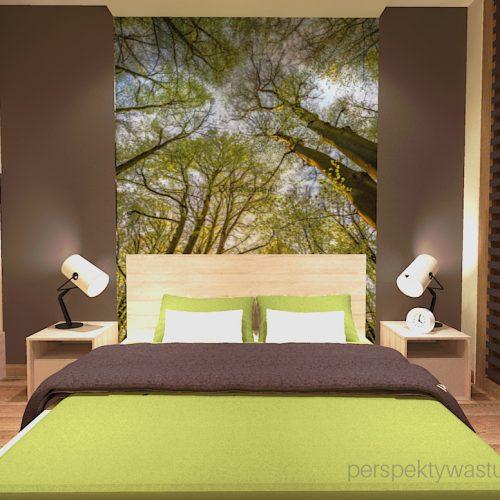 projekt-sypialni-projektowanie-wnętrz-lublin-perspektywa-studio-sypialnia-styl-nowoczesny-brązy-i-zieleń-w-sypialni-fototapeta-powiększająca-wnętrze-Leśne-zacisze-15