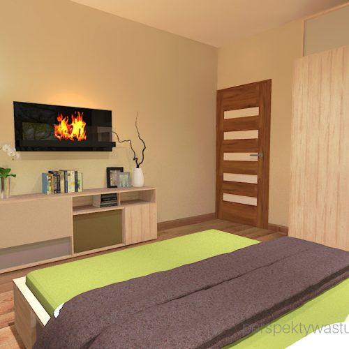 projekt-sypialni-projektowanie-wnętrz-lublin-perspektywa-studio-sypialnia-styl-nowoczesny-brązy-i-zieleń-w-sypialni-fototapeta-powiększająca-wnętrze-Leśne-zacisze-17
