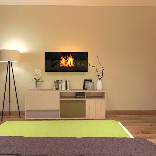 projekt-sypialni-projektowanie-wnętrz-lublin-perspektywa-studio-sypialnia-styl-nowoczesny-brązy-i-zieleń-w-sypialni-fototapeta-powiększająca-wnętrze-Leśne-zacisze-18