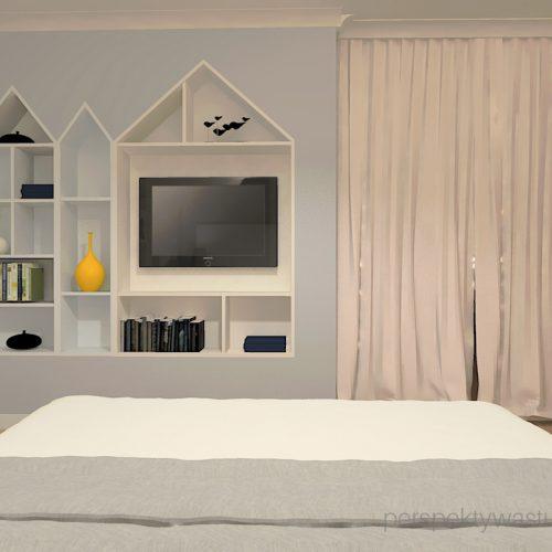 projekt-sypialni-projektowanie-wnętrz-lublin-perspektywa-studio-sypialnia-styl-skandynawski-żółte-meble-tapicerowane-wezgłowie-Skadynawia-2