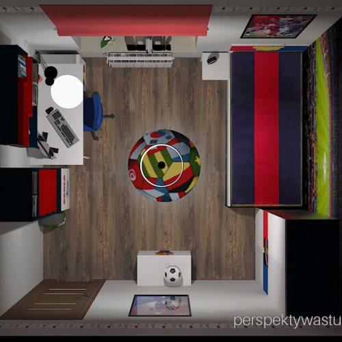 Projekt pokoju chłopca fana Barcelony pokój piłkarza piłka nożna 8