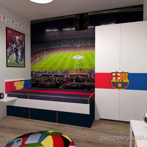 Projekt pokoju chłopca fana Barcelony pokój piłkarza piłka nożna 7