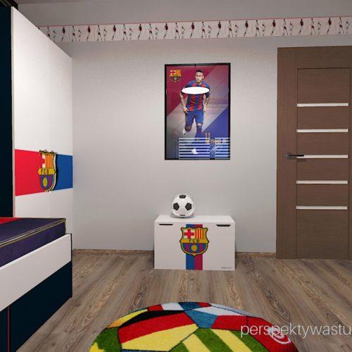 Projekt pokoju chłopca fana Barcelony pokój piłkarza piłka nożna 6