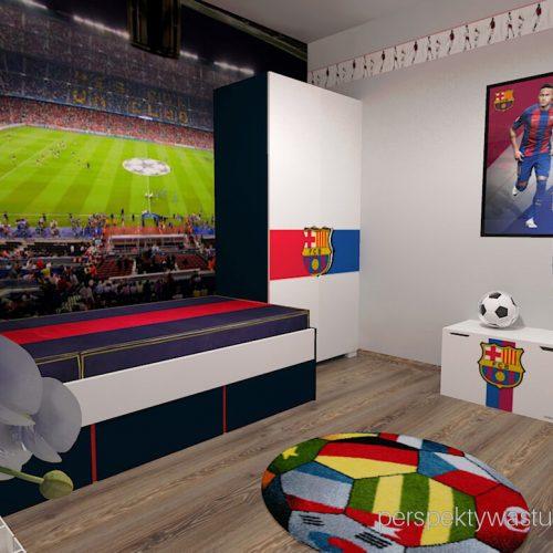 Projekt pokoju chłopca fana Barcelony pokój piłkarza piłka nożna 5