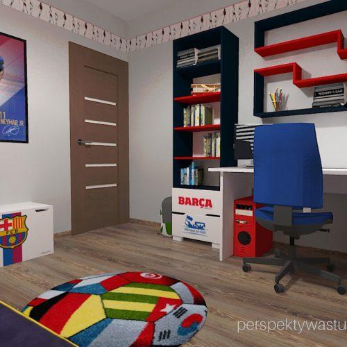 Projekt pokoju chłopca fana Barcelony pokój piłkarza piłka nożna 4
