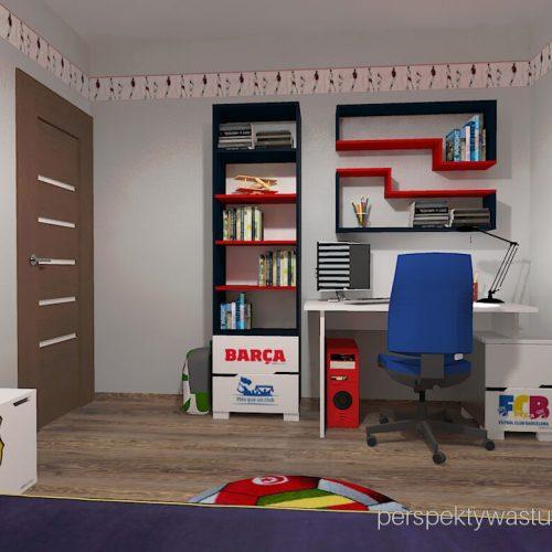 Projekt pokoju chłopca fana Barcelony pokój piłkarza piłka nożna 3