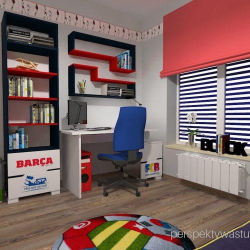 Projekt pokoju chłopca fana Barcelony pokój piłkarza piłka nożna 1
