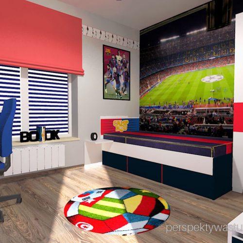Projekt pokoju chłopca fana Barcelony pokój piłkarza piłka nożna 2