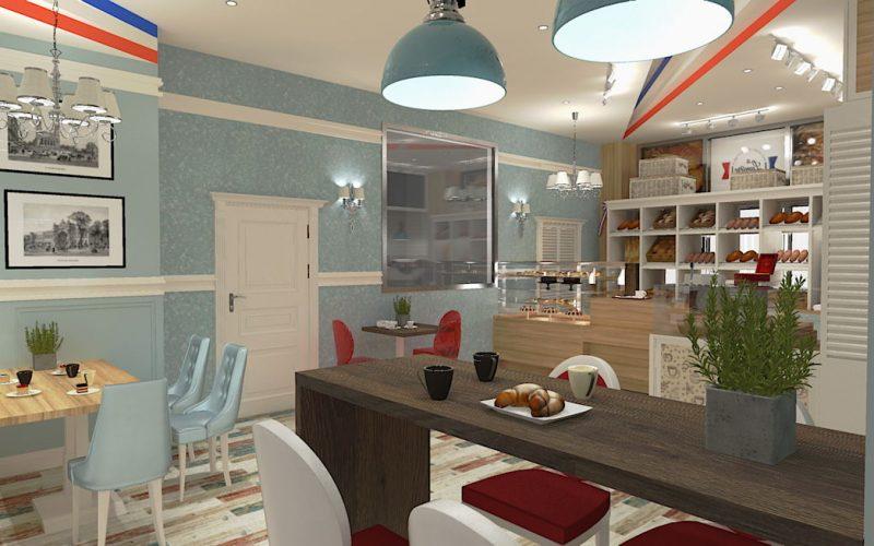 projektant-wnętrz-Lublin-wnętrza komercyjne-La-Lumiere-piekarnia-francuska-Lazurowe-wybrzeże-1