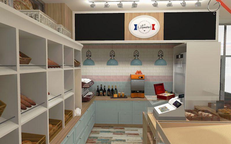 projektant-wnętrz-Lublin-wnętrza komercyjne-La-Lumiere-piekarnia-francuska-Lazurowe-wybrzeże-3