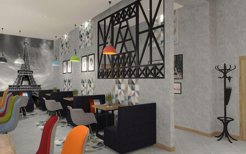 projektant-wnętrz-Lublin-wnętrza komercyjne-La-Lumiere-piekarnia-francuska-Wieża-Eiflla-11