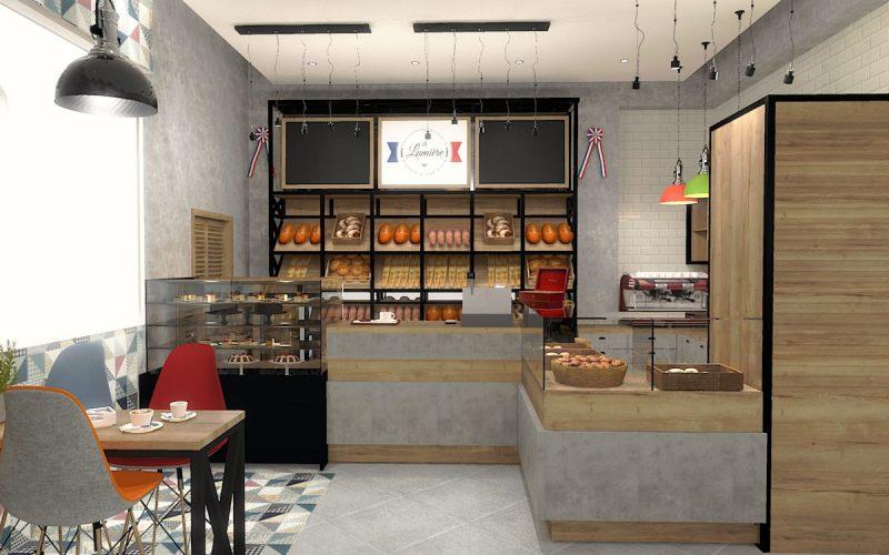 projektant-wnętrz-Lublin-wnętrza komercyjne-La-Lumiere-piekarnia-francuska-Wieża-Eiflla-12