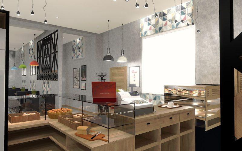 projektant-wnętrz-Lublin-wnętrza komercyjne-La-Lumiere-piekarnia-francuska-Wieża-Eiflla-14