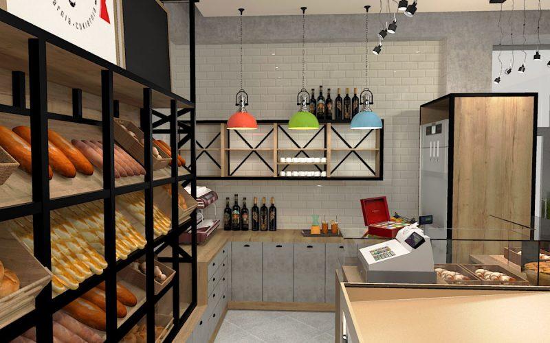 projektant-wnętrz-Lublin-wnętrza komercyjne-La-Lumiere-piekarnia-francuska-Wieża-Eiflla-15