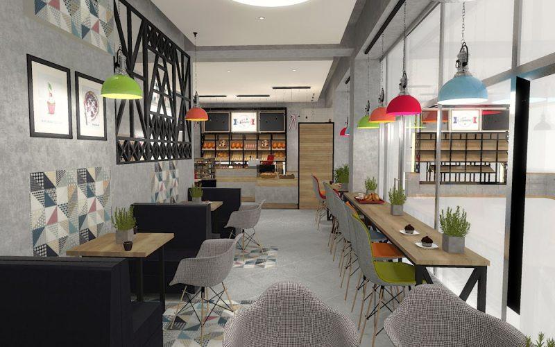 projektant-wnętrz-Lublin-wnętrza komercyjne-La-Lumiere-piekarnia-francuska-Wieża-Eiflla-2