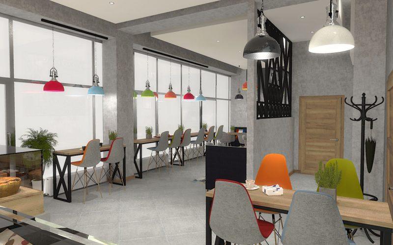 projektant-wnętrz-Lublin-wnętrza komercyjne-La-Lumiere-piekarnia-francuska-Wieża-Eiflla-4