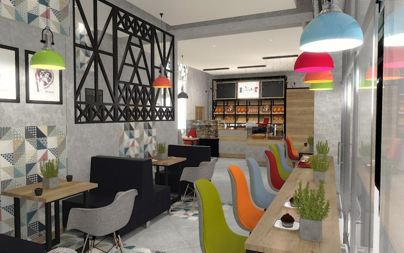 projektant-wnętrz-Lublin-wnętrza komercyjne-La-Lumiere-piekarnia-francuska-Wieża-Eiflla-5