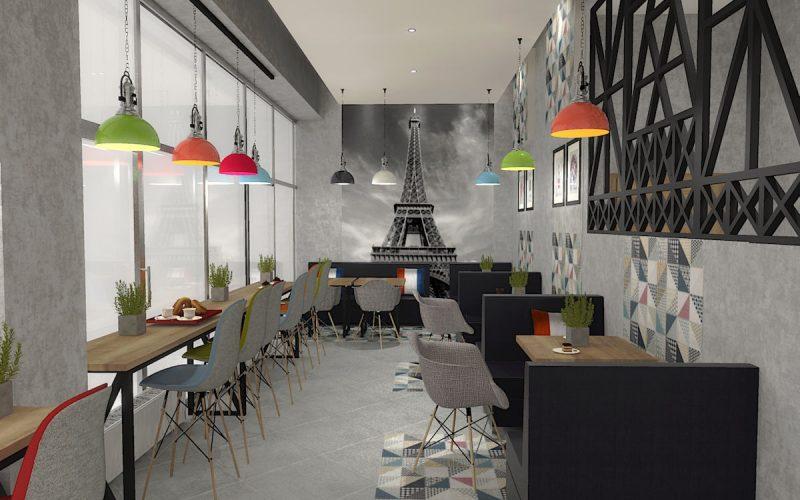 projektant-wnętrz-Lublin-wnętrza komercyjne-La-Lumiere-piekarnia-francuska-Wieża-Eiflla-6