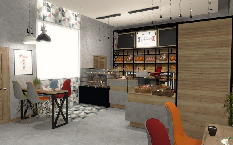 projektant-wnętrz-Lublin-wnętrza komercyjne-La-Lumiere-piekarnia-francuska-Wieża-Eiflla-7