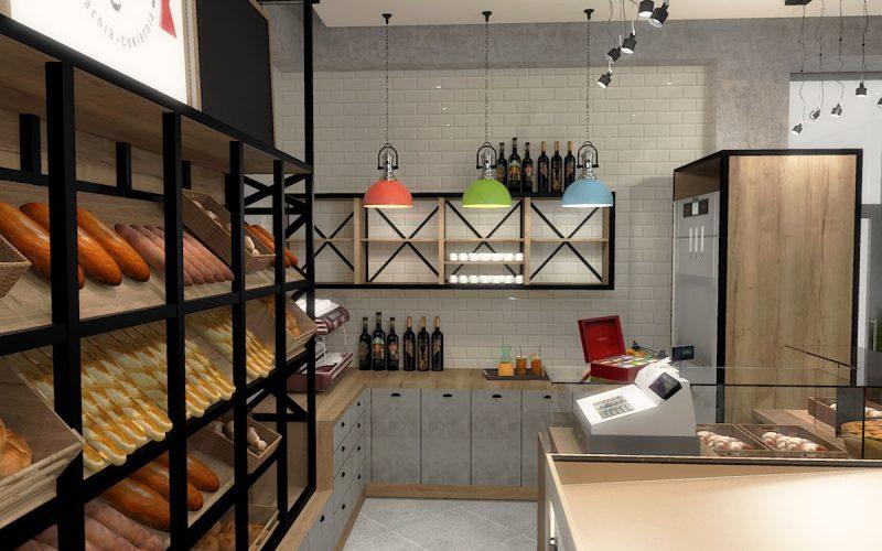 projektant-wnętrz-Lublin-wnętrza komercyjne-La-Lumiere-piekarnia-francuska-Wieża-Eiflla-8