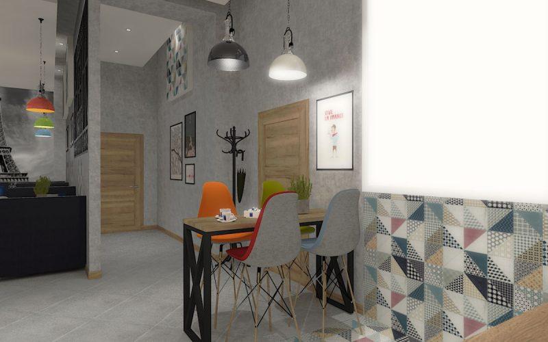 projektant-wnętrz-Lublin-wnętrza komercyjne-La-Lumiere-piekarnia-francuska-Wieża-Eiflla-9