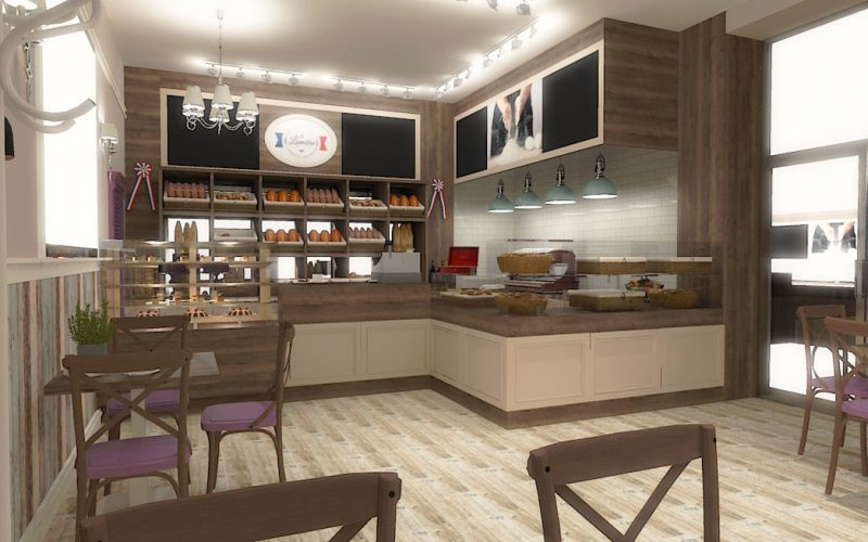 projektant-wnętrz-Lublin-wnętrza komercyjne-La-Lumiere-piekarnia-francuska-Wzgórza-prowansalskie-2
