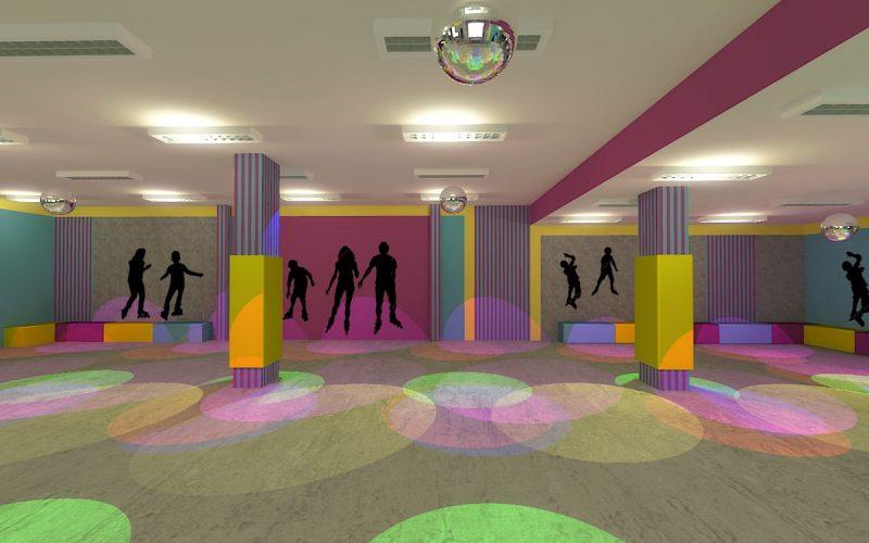 projektant-wnętrz-Lublin-wnętrza komercyjne-Wrotkomania-skate-park-Fuksja-11