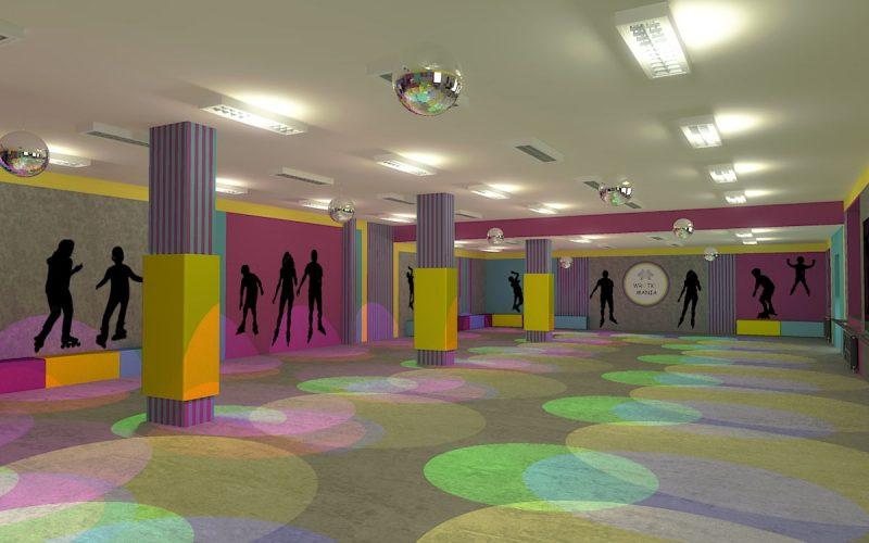 projektant-wnętrz-Lublin-wnętrza komercyjne-Wrotkomania-skate-park-Fuksja-12