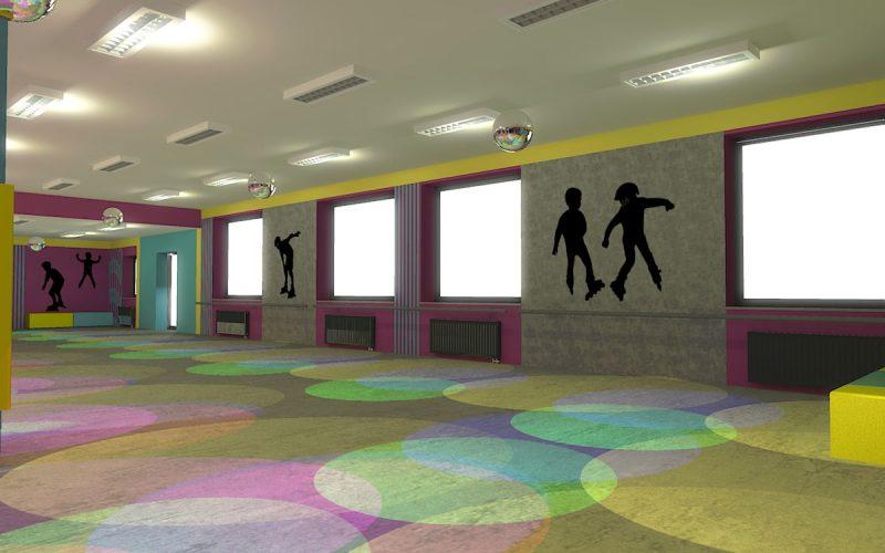 projektant-wnętrz-Lublin-wnętrza komercyjne-Wrotkomania-skate-park-Fuksja-13