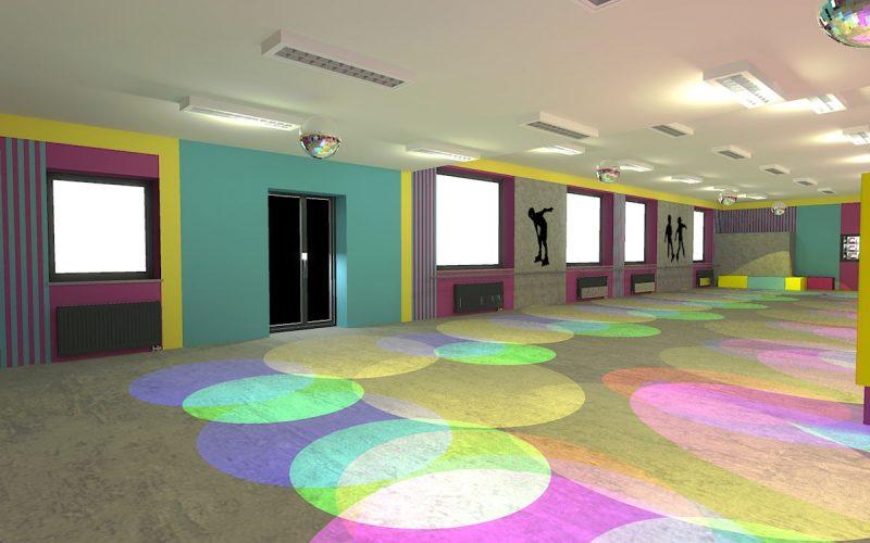 projektant-wnętrz-Lublin-wnętrza komercyjne-Wrotkomania-skate-park-Fuksja-15