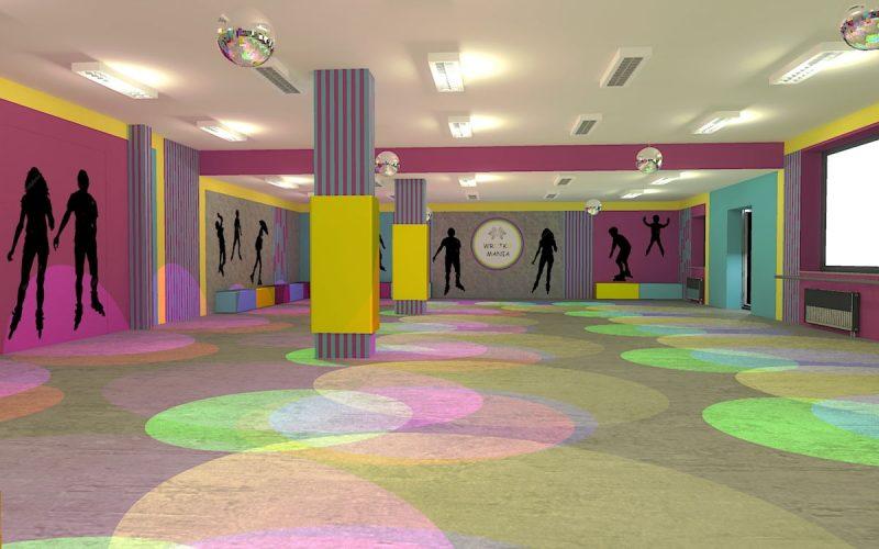 projektant-wnętrz-Lublin-wnętrza komercyjne-Wrotkomania-skate-park-Fuksja-16
