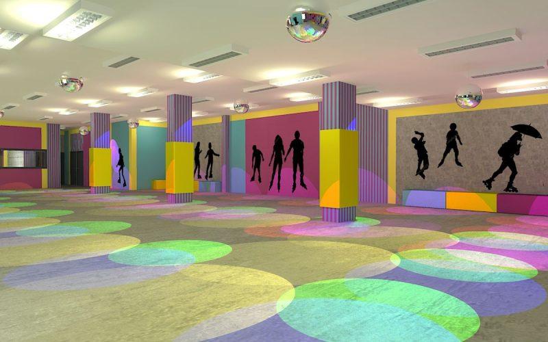 projektant-wnętrz-Lublin-wnętrza komercyjne-Wrotkomania-skate-park-Fuksja-17
